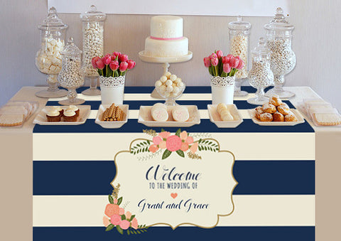 PTTC126 Custom Marine Vintage Design Table Topper - Backdrop Outlet