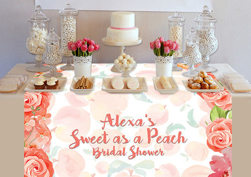 Custom Sweet As A Peach Table Topper - PTTC131 - Backdrop Outlet
