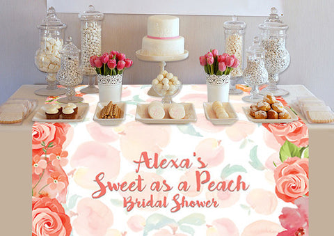 PTTC131 Custom Sweet As A Peach Table Topper - Backdrop Outlet