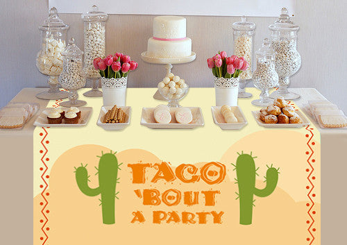 Custom Taco Bout A Party Table Topper - PTTC132 - Backdrop Outlet