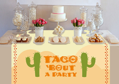 PTTC132 Custom Taco Bout A Party Table Topper - Backdrop Outlet