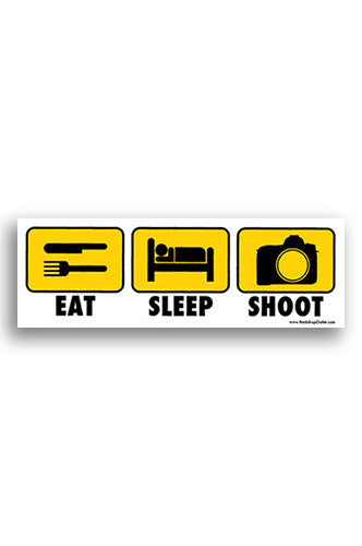 STICKER001 Eat Sleep Shoot Sticker - Backdrop Outlet