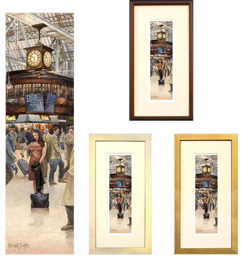A Timely Arrangement Glasgow Central Station by William Dobbie