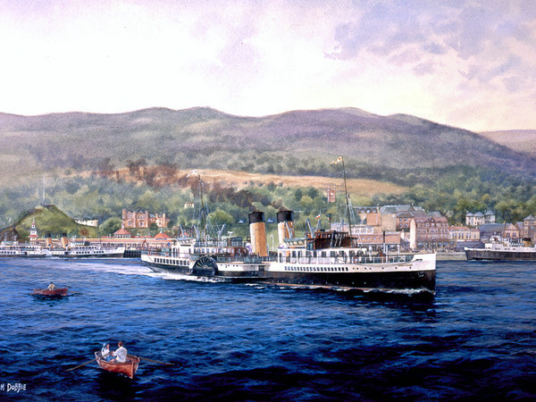 Paddle Steamer - Jeanie Deans by William Dobbie