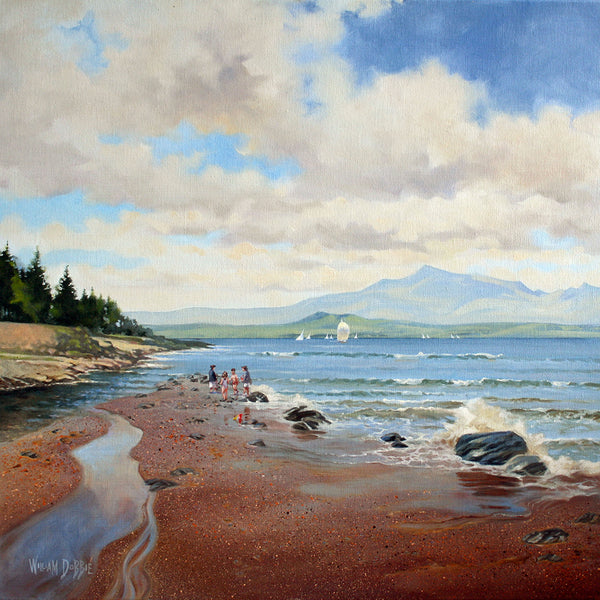 Skelmorlie Beachcombers by William Dobbie