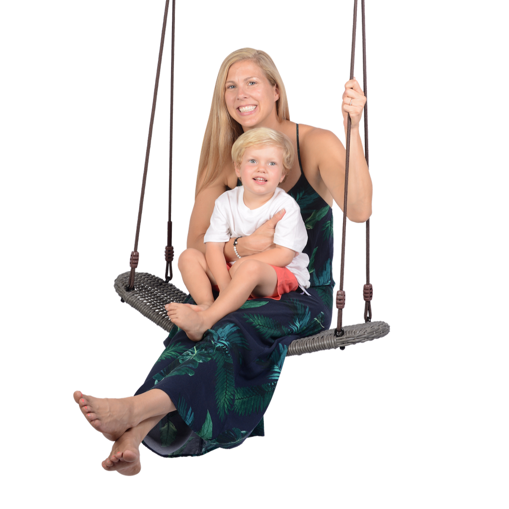 NEW! Swurfer® Chill  - Curved Outdoor Rattan Patio Swing