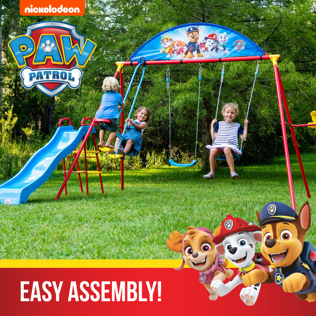 NEW! - Swurfer® Paw Patrol Classic Swing Set with Glider