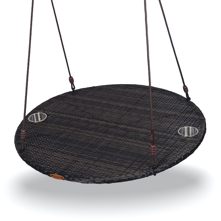 "Swurfer® Chill -  Round 40"" Outdoor Rattan Patio Swing"