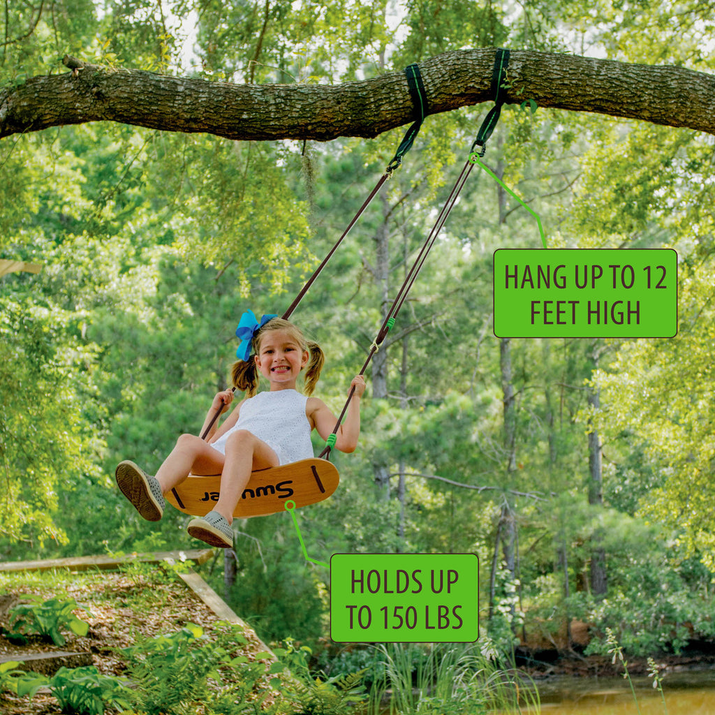 Swurfer® Sway Classic Wooden Swing