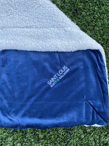 "SLSG Wordmark 50"" x 60""Fleece/Sherpa Lined Blanket"