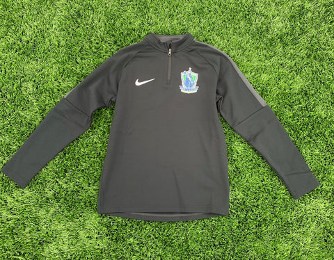 "SLSG NIKE Youth 1/4"" Zip - Black"