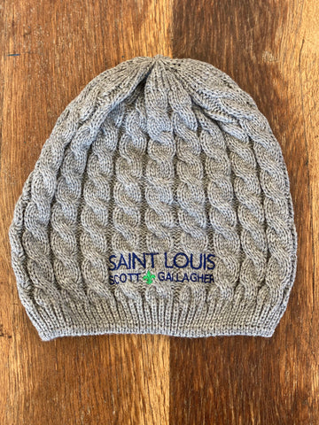SLSG Wordmark Womens Cable Knit Hat
