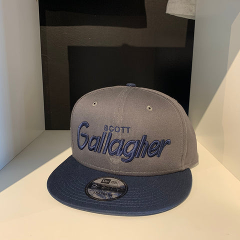 Scott Gallagher Grey/Navy Retro SnapBack Hat