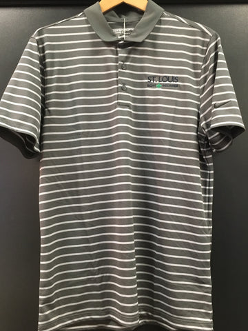 SLSG NIKE STRIPED POLO - GRAY