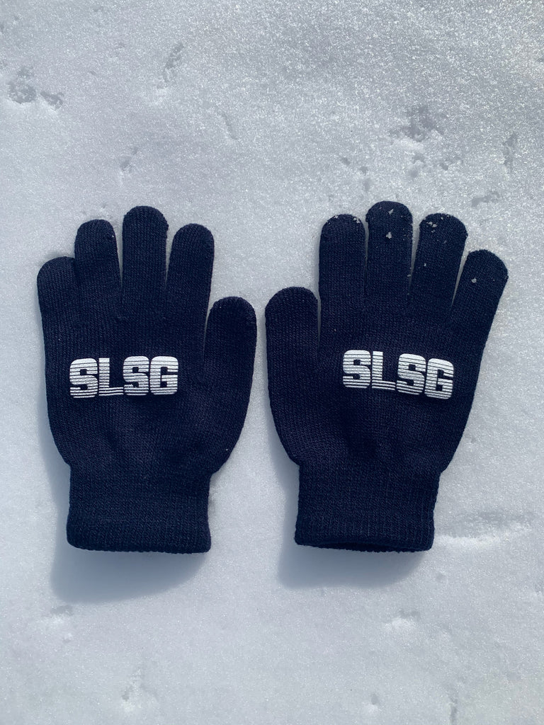 SLSG Retro Logo Youth Knit Gloves