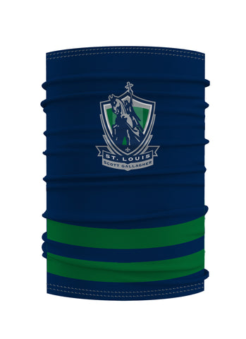 SLSG Navy & Green Striped Youth Gaiter