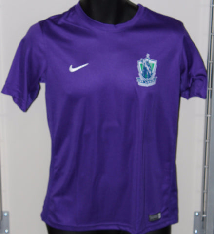 Youth Short Sleeved Nike Dri-Fit Shirt (Purple)