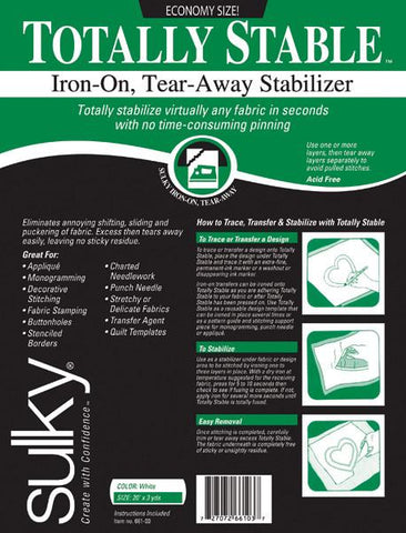 Tear-Away Stabilizer