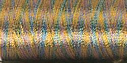 Sulky Rayon Thread Variegated Med Blue Green Tan #2246 40wt 250yds
