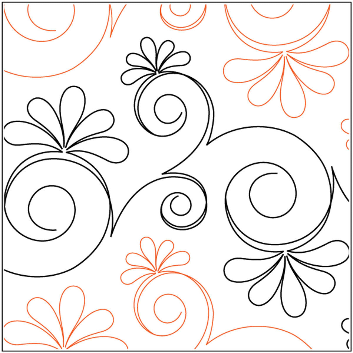 Quilt Stencils By Patricia Ritter and Leisha Farnsworth Chantilly 12in - Quilting-Warehouse