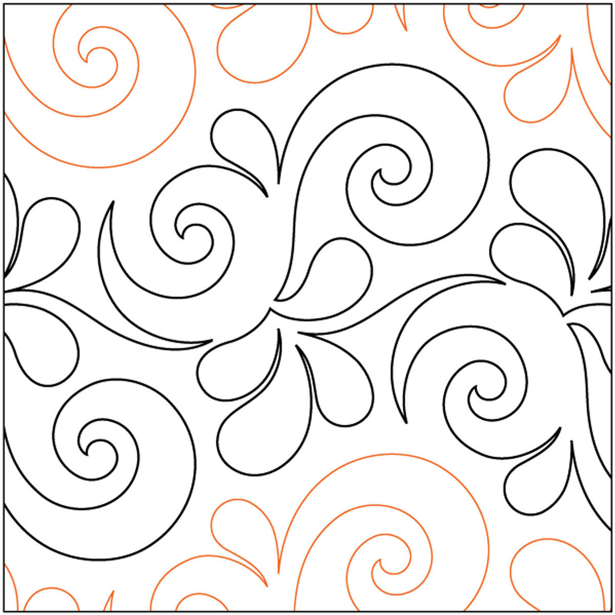 Quilt Stencils By Patricia Ritter Wave On Wave 9in - Quilting-Warehouse