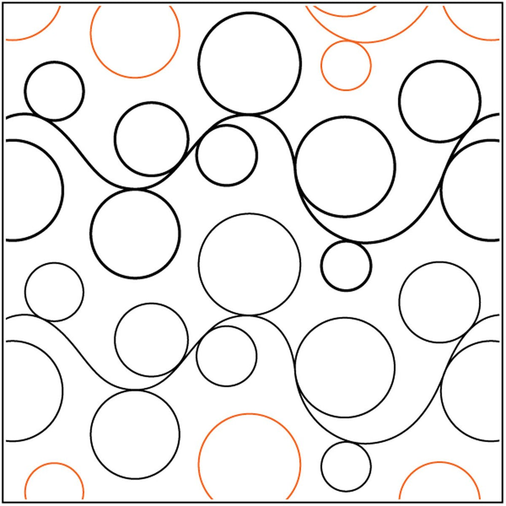 Quilt Stencils By Patricia Ritter Double Bubble 7in