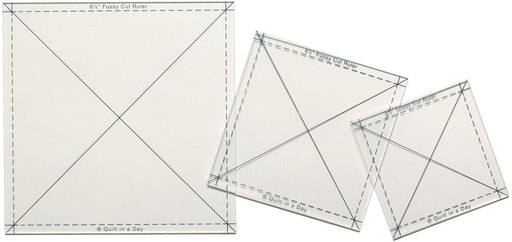 Quilt In A Day Fussy Cut Ruler Set 3 per package