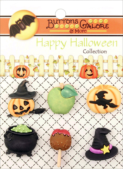 Buttons Galore Halloween Buttons The Witching Hour 6pk