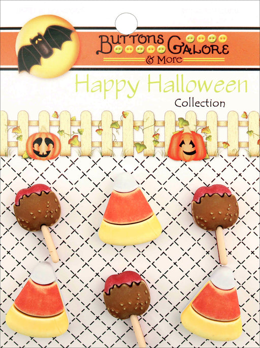 Buttons Galore Halloween Buttons No Tricks Just Treats 6pk