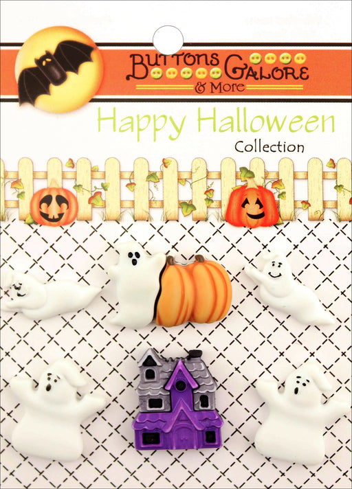 Buttons Galore Halloween Buttons Boo Buddies 6pk