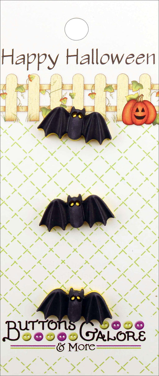 Buttons Galore Halloween Buttons Bats 3pk