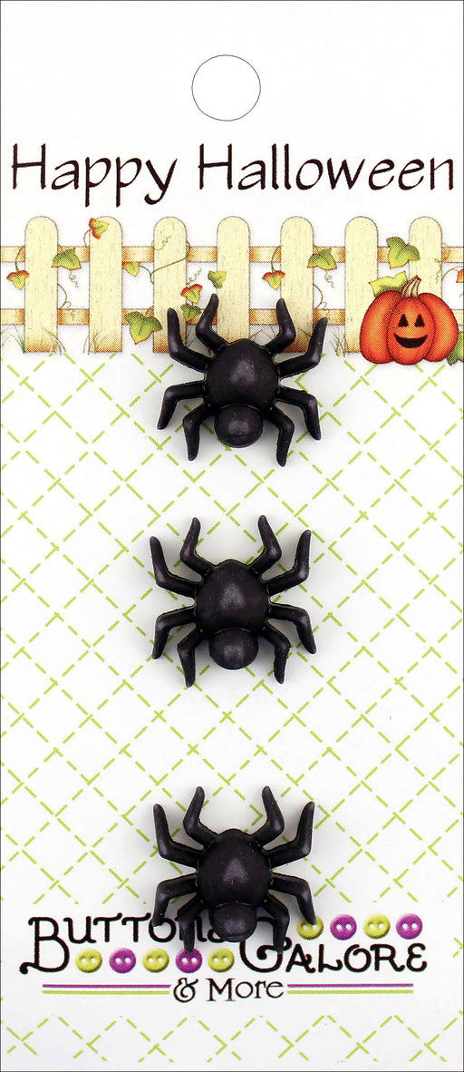 Buttons Galore Halloween Buttons Spiders 3pk