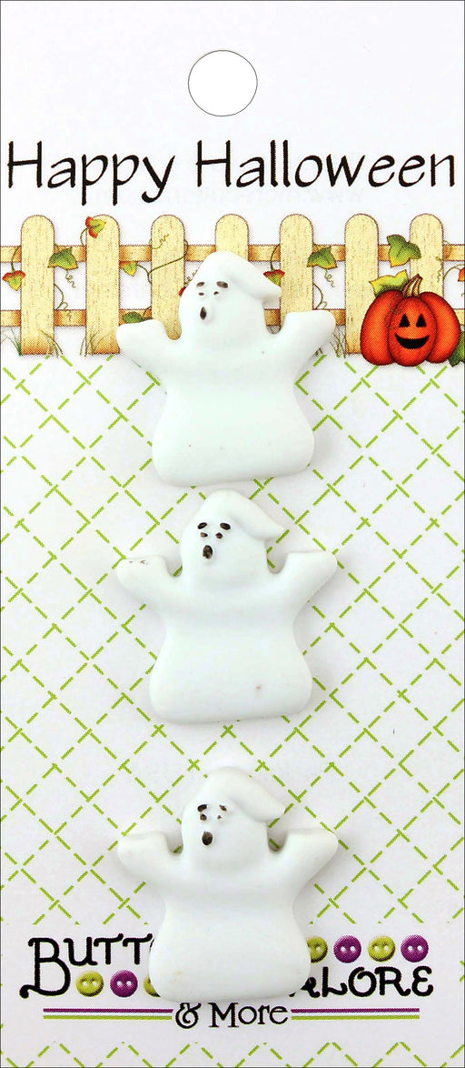 Buttons Galore Halloween Buttons Ghosts 3pk
