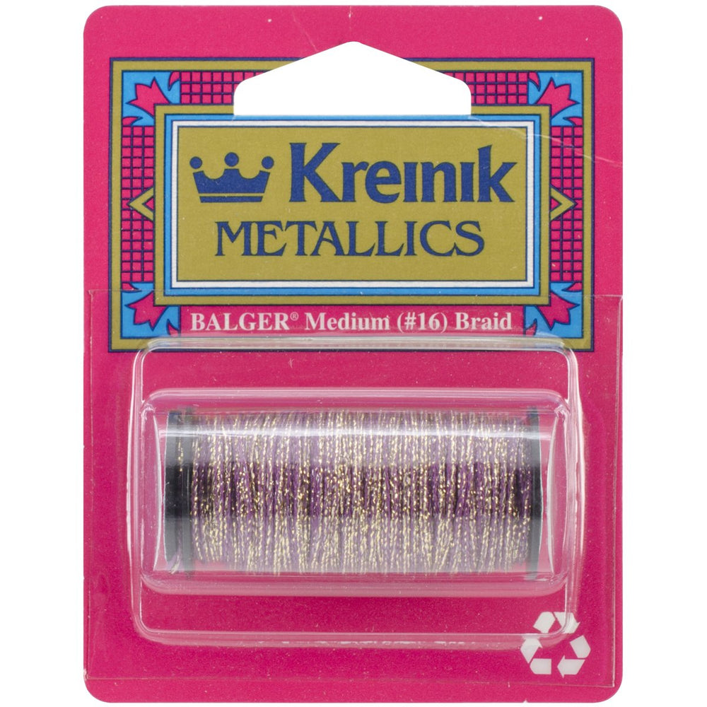 Kreinik Medium Metallic Braid Golden Cabernet #16 11yds