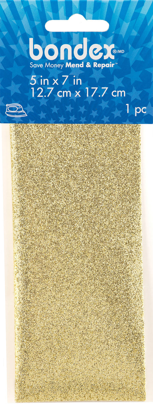 Bondex Iron-On Shimmer Mending Fabric Gold 5inX7in