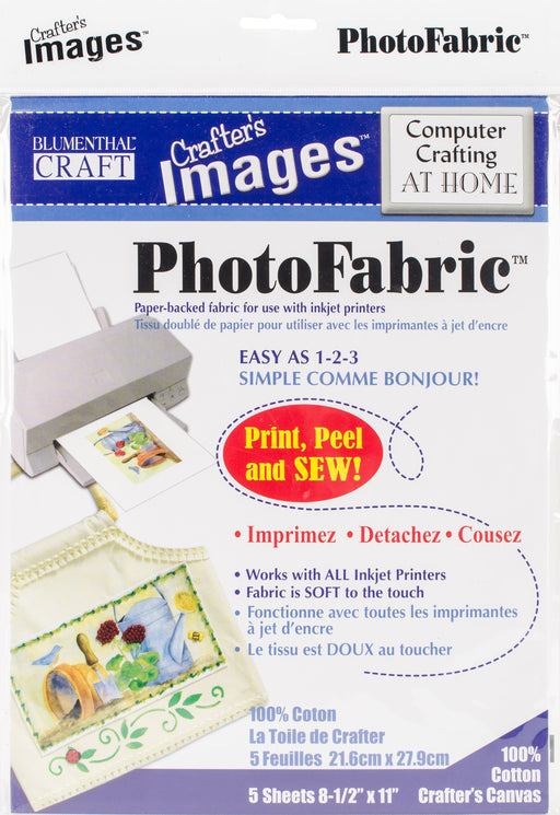 Crafter's Images Photofabric 100% Cotton Canvas 8.5inX11in 5pk