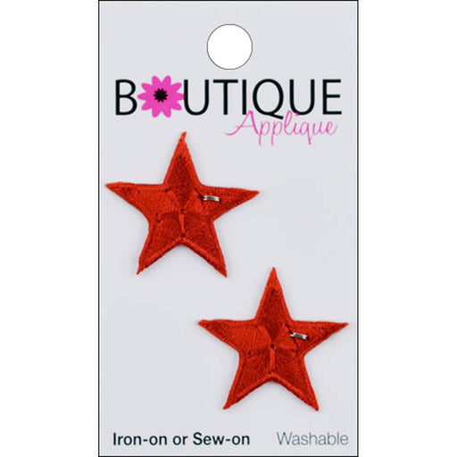 Iron On Appliques Red Stars 2/Pkg