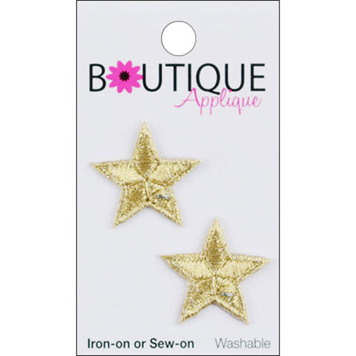 Iron On Appliques Gold Stars 2/Pkg