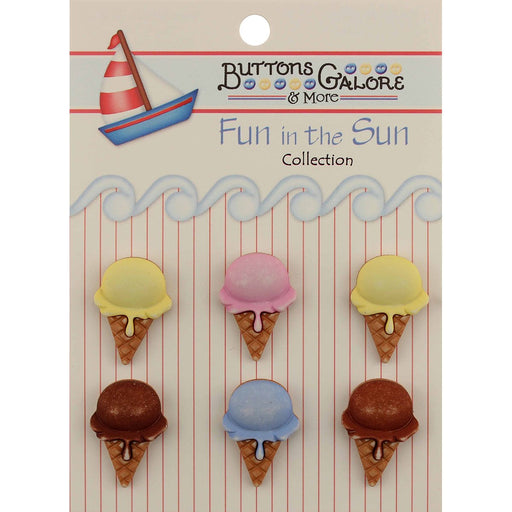 Fun In The Sun Buttons Ice Cream Cones