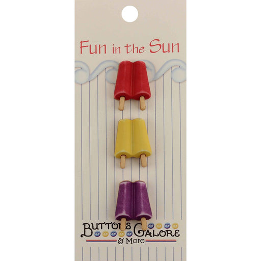 Fun In The Sun Buttons Popsicles