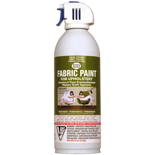 Upholstery Spray Fabric Paint Sage Green 8oz