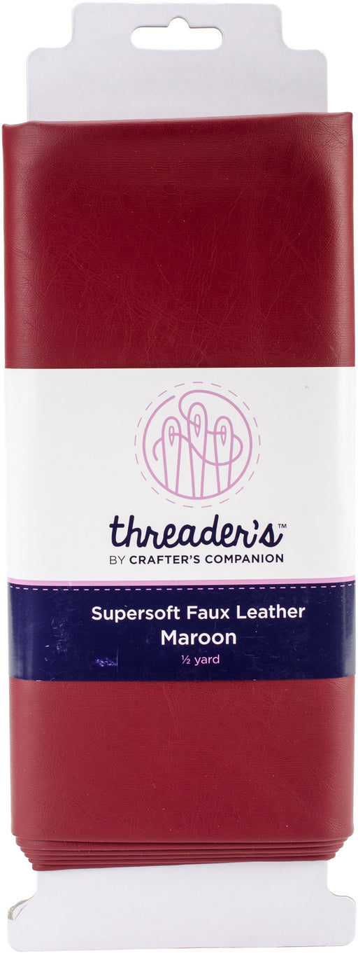 Crafter's Companion Threaders Faux Leather Maroon 20inX54in