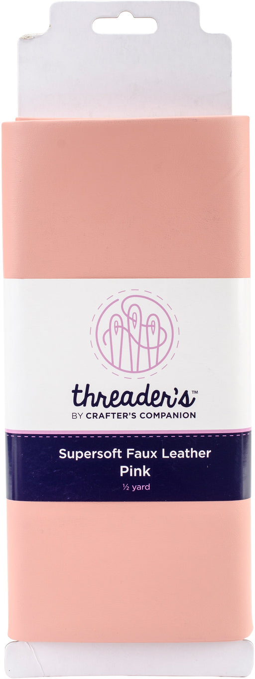 Crafter's Companion Threaders Faux Leather Pink 20inX54in