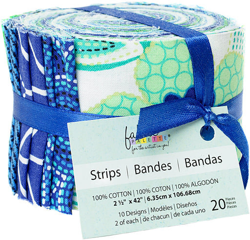 Fabric Palette Jellies Carnivale Blue 2.5inX42in 20pk