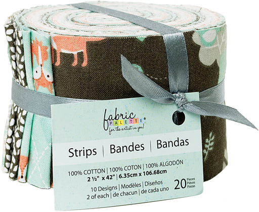 Fabric Palette Jellies Little Forest 2.5inX42in 20pk
