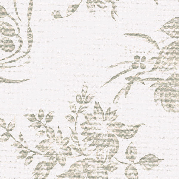 Deluxe Flannel Back Tablecloth Vinyl White and Beige Damask
