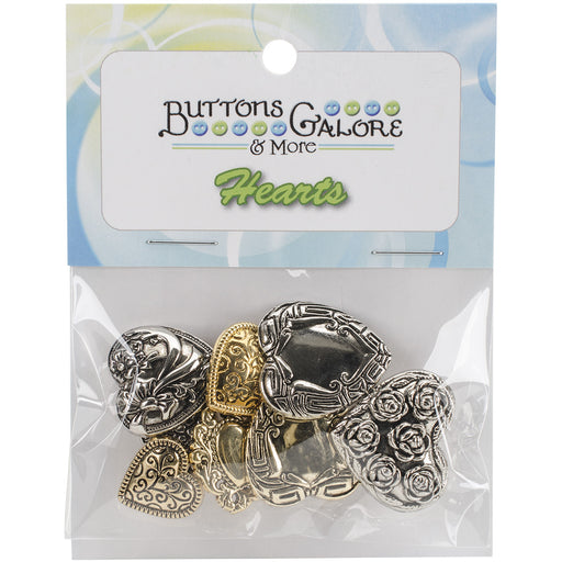 Button Theme Pack Assorted Fancy Hearts