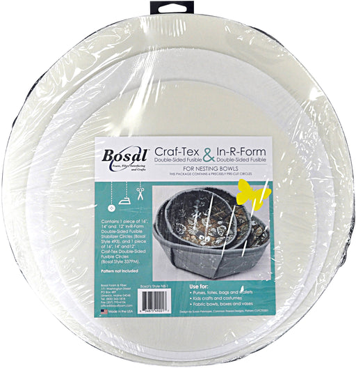 Bosal Craf-Tex & In-R-Foam Nesting Bowls 6 Circles 2 Each 12in, 14in & 16in