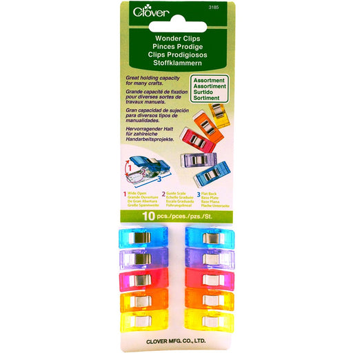 Wonder Clips Assorted Colors 10pk