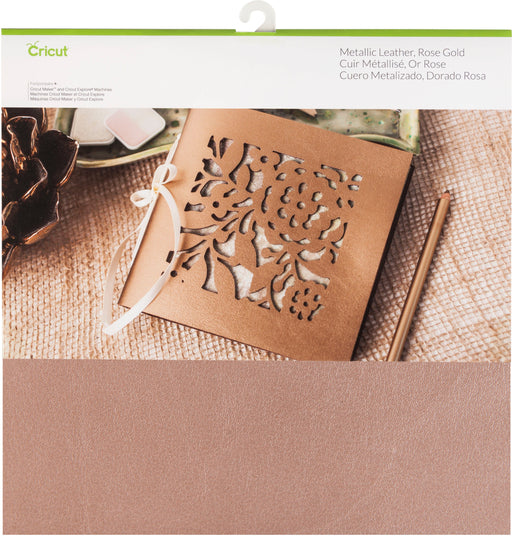 Cricut Maker Soft Metallic Leather Rose Gold 12inX12in